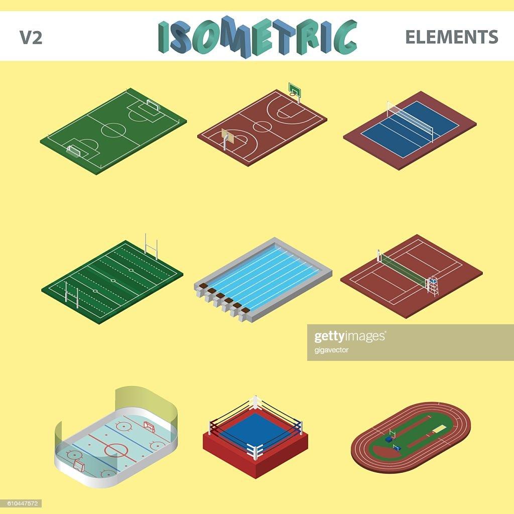 Isometric sport venues