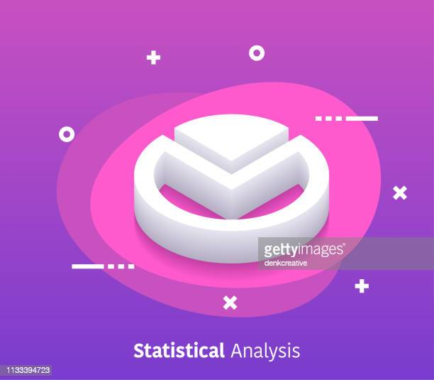 isometric statistical analysis vector web banner & icon design - big data isometric stock illustrations