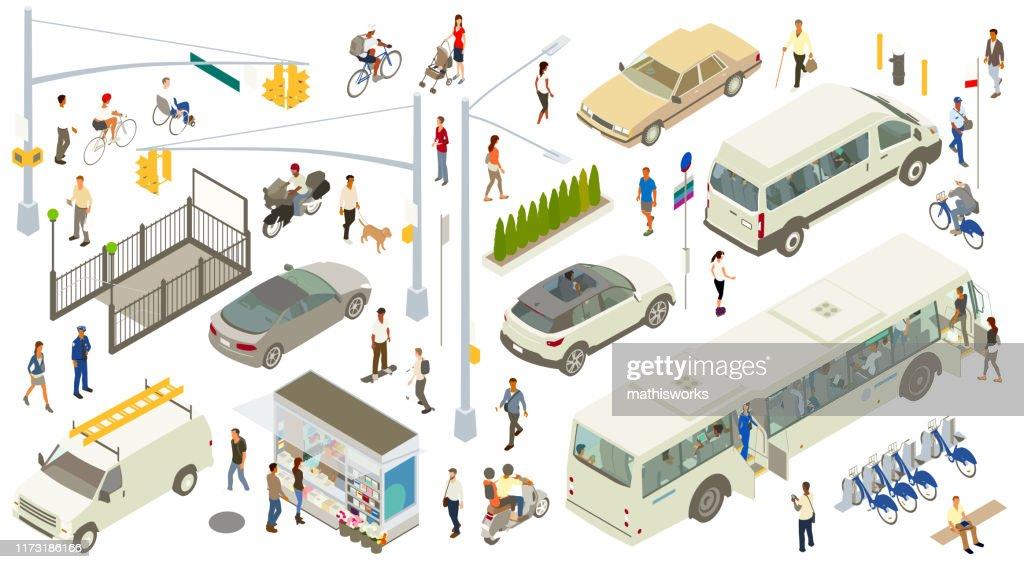 Isometric Street Icons : stock illustration