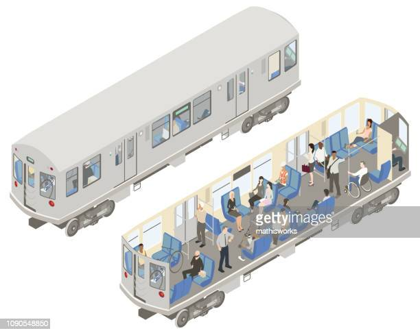 Isometric subway cutaway illustration