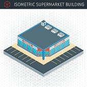 Isometric supermarket house