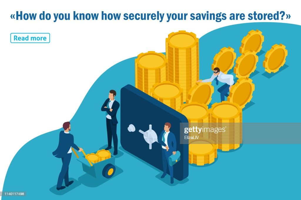 Isometric Template banner article Protect your funds from external threats, theft