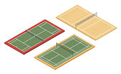 Isometric tennis, badminton and volleyball courts