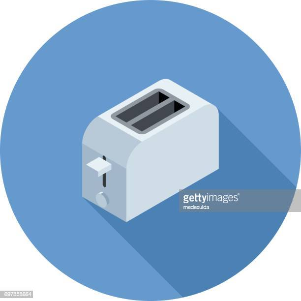 isometric toaster - toaster appliance stock illustrations, clip art, cartoons, & icons