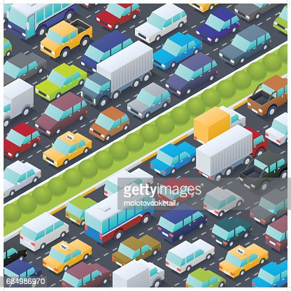 isometric traffic jam