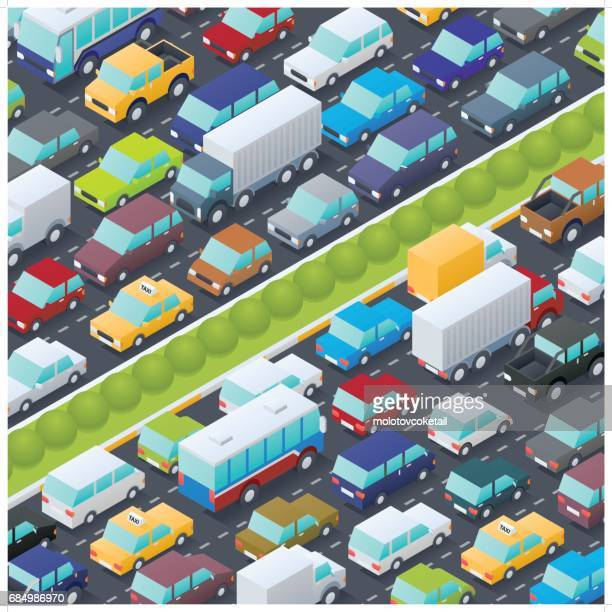 isometric traffic jam