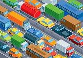 Isometric, traffic