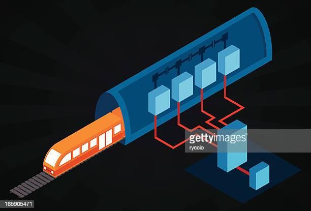 isometric train plan