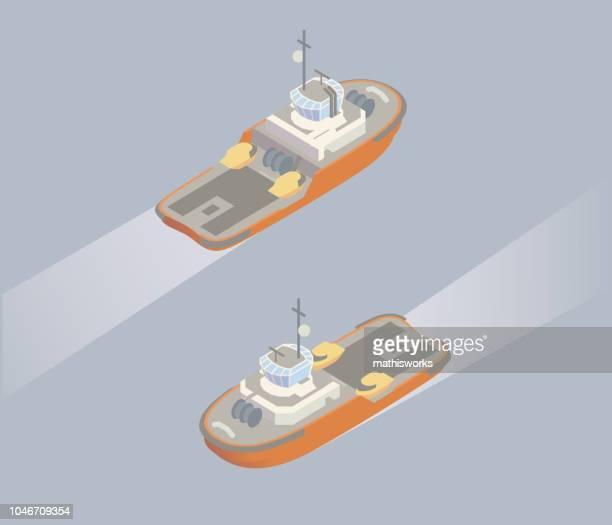 等尺性タグボートの図