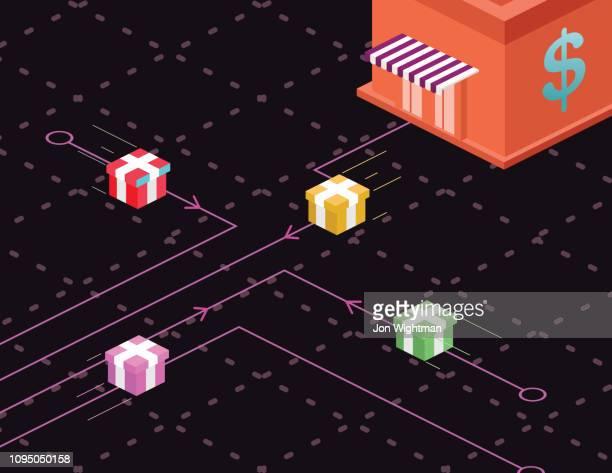 Isometric Vaporwave - Online Shopping