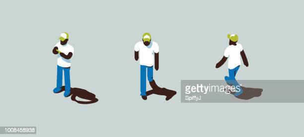 isometric vector character - figurine stock illustrations, clip art, cartoons, & icons