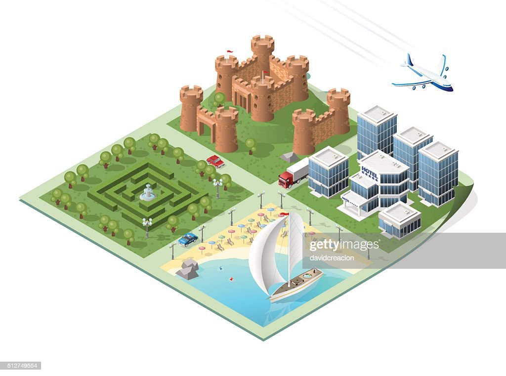 Isometric Vector City.