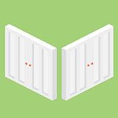 Isometric Vector Doors