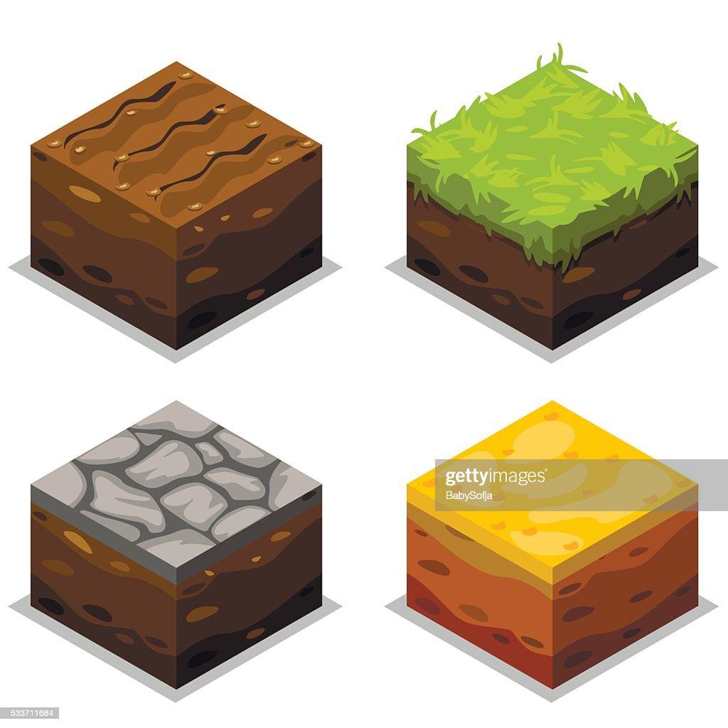 Isometric Vector Elements For Landscape Design