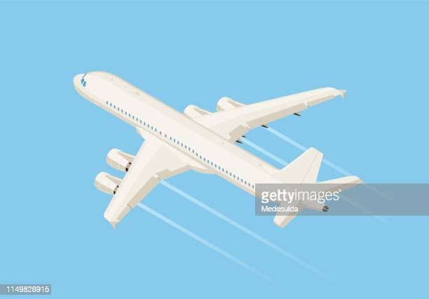 isometric - aeroplane stock illustrations