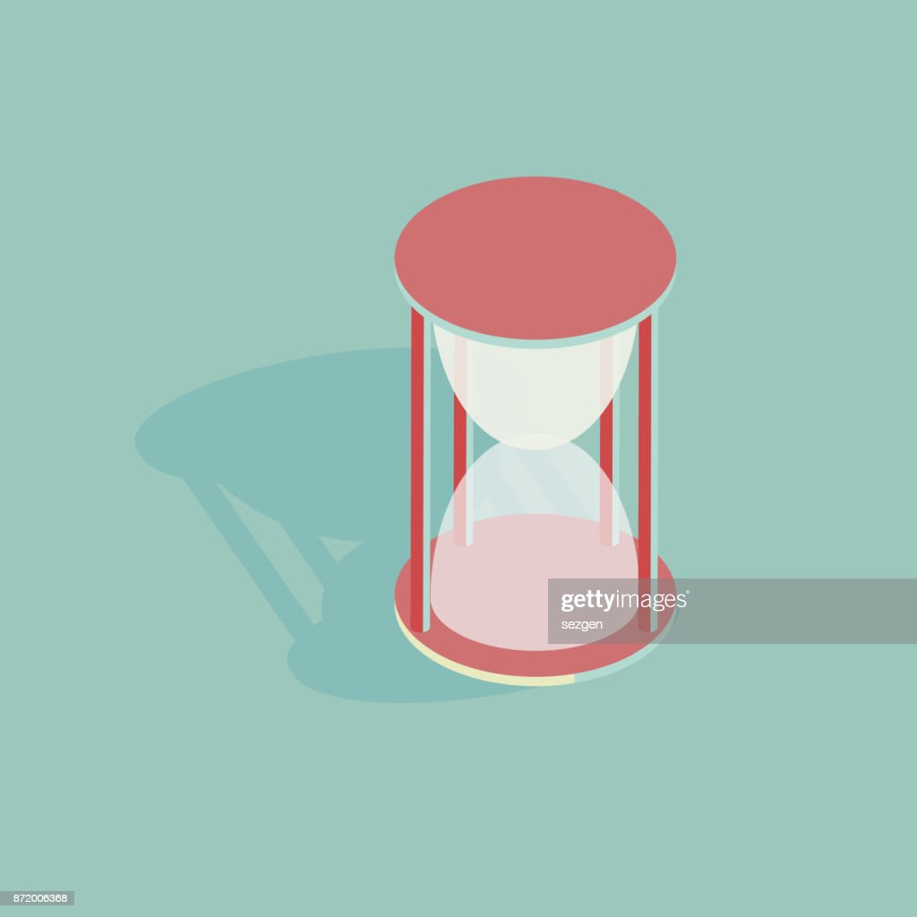isometric vector illustration of an hourglass
