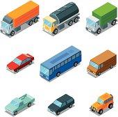 Isometric, vehicles