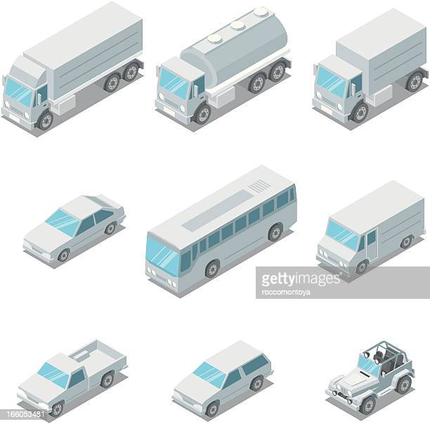 Isometric, vehicles