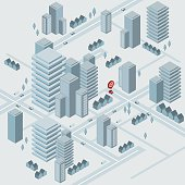 Isometric virtual city