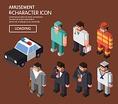 Isometric vocational character ICONS