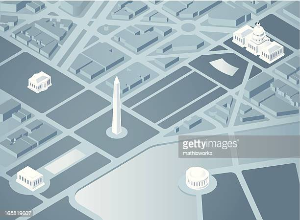 isometric washington dc - washington dc stock illustrations