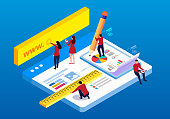Isometric web construction and testing