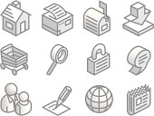 Isometric Web Site Icons