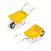 isometric wheelbarrow