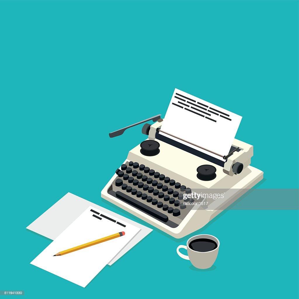 isometric workplace writer