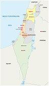 Israel administrative map