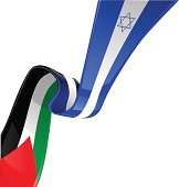 Israel and palestine flag