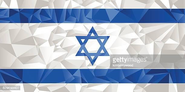 israel flag - hebrew script stock illustrations, clip art, cartoons, & icons