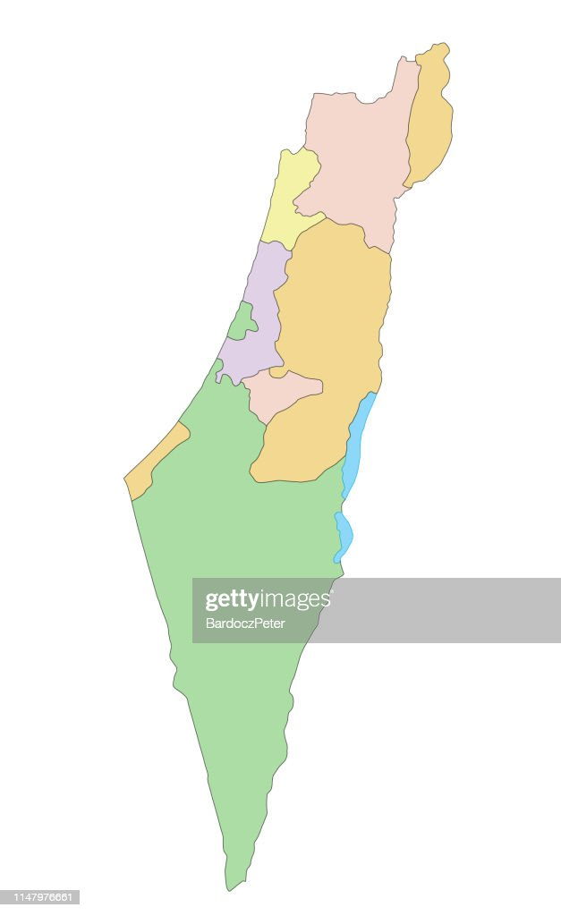 Israel - Highly detailed, editable political map.