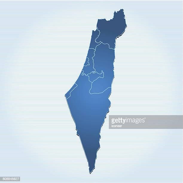 Israel map blue