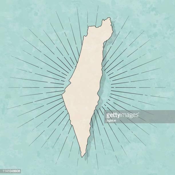 イスラエルの地図レトロヴィンテージスタイル-古いテクスチャー紙 - イスラエル点のイラスト素材/クリップアート素材/マンガ素材/アイコン素材