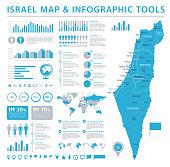 Israel Map - Info Graphic Vector Illustration
