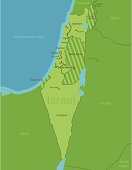 Israel Map showing Districts