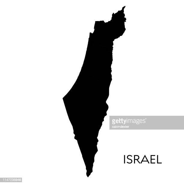 israel map - israel stock illustrations