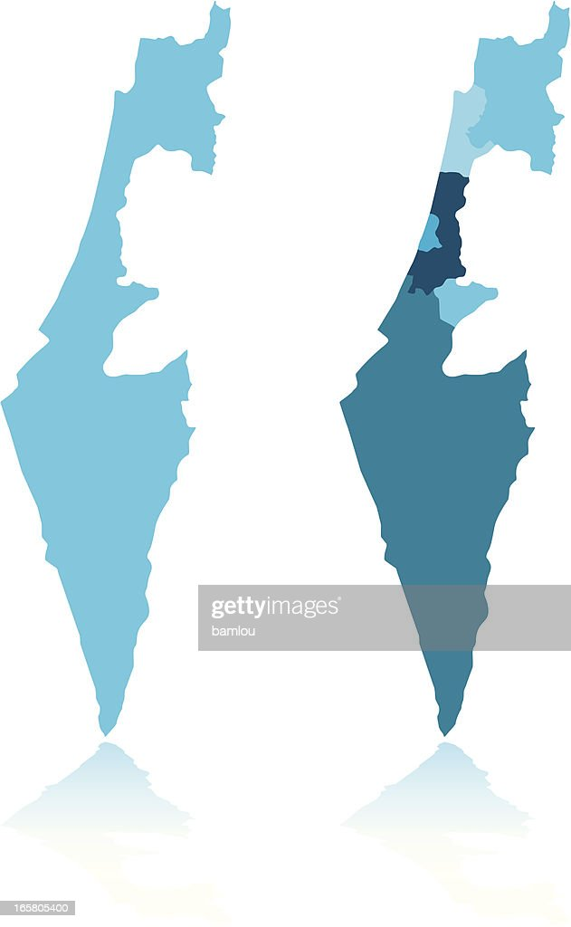 Israel Map Vector Art Getty Images - Isreal map
