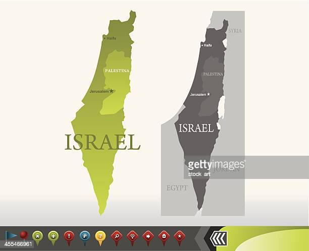 Israel map with navigation icons