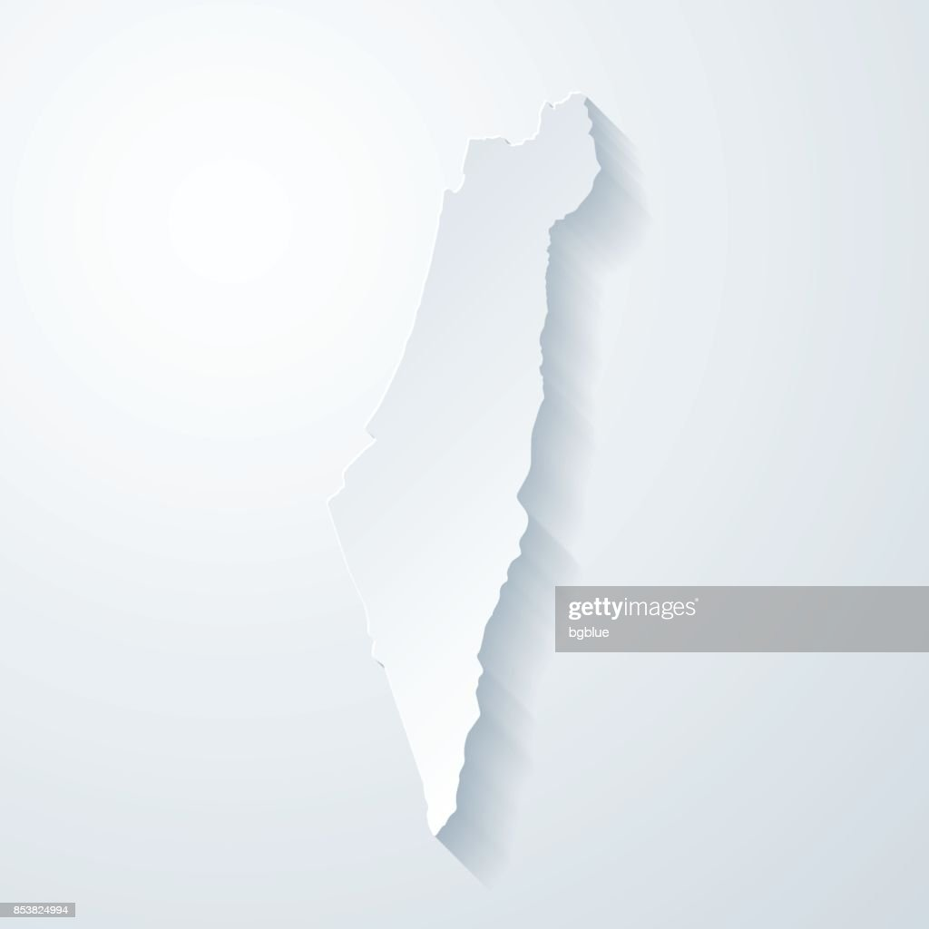 Picture of: Israel Map With Paper Cut Effect On Blank Background High Res Vector Graphic Getty Images