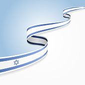 Israeli flag background. Vector illustration