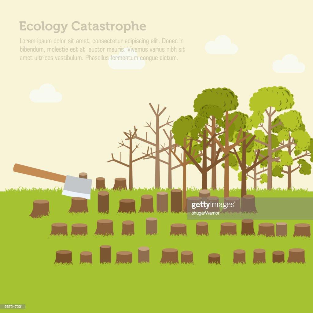 issue deforestation illustration design background