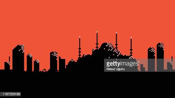 istanbul city skyline - spire stock illustrations, clip art, cartoons, & icons