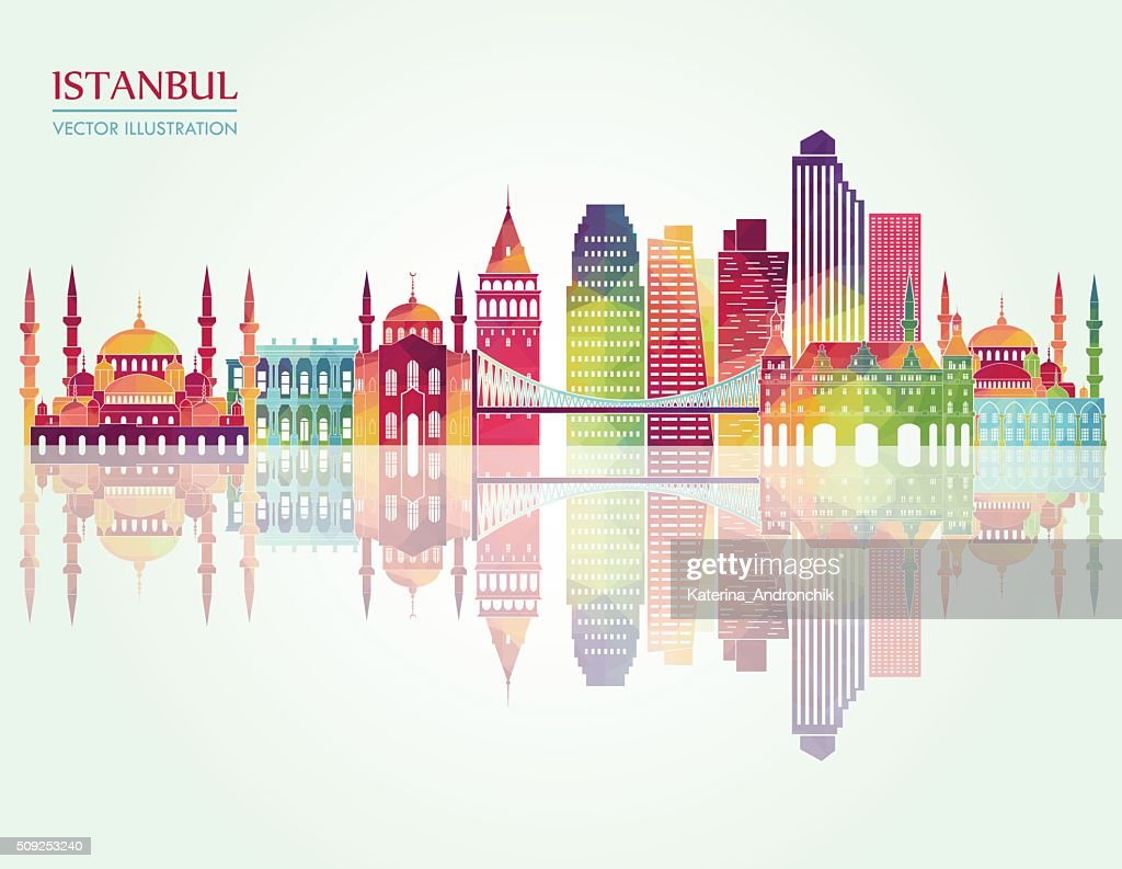 Istanbul detailed silhouette. Vector illustration