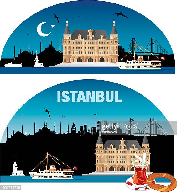 istanbul skyline - 2015 stock illustrations, clip art, cartoons, & icons