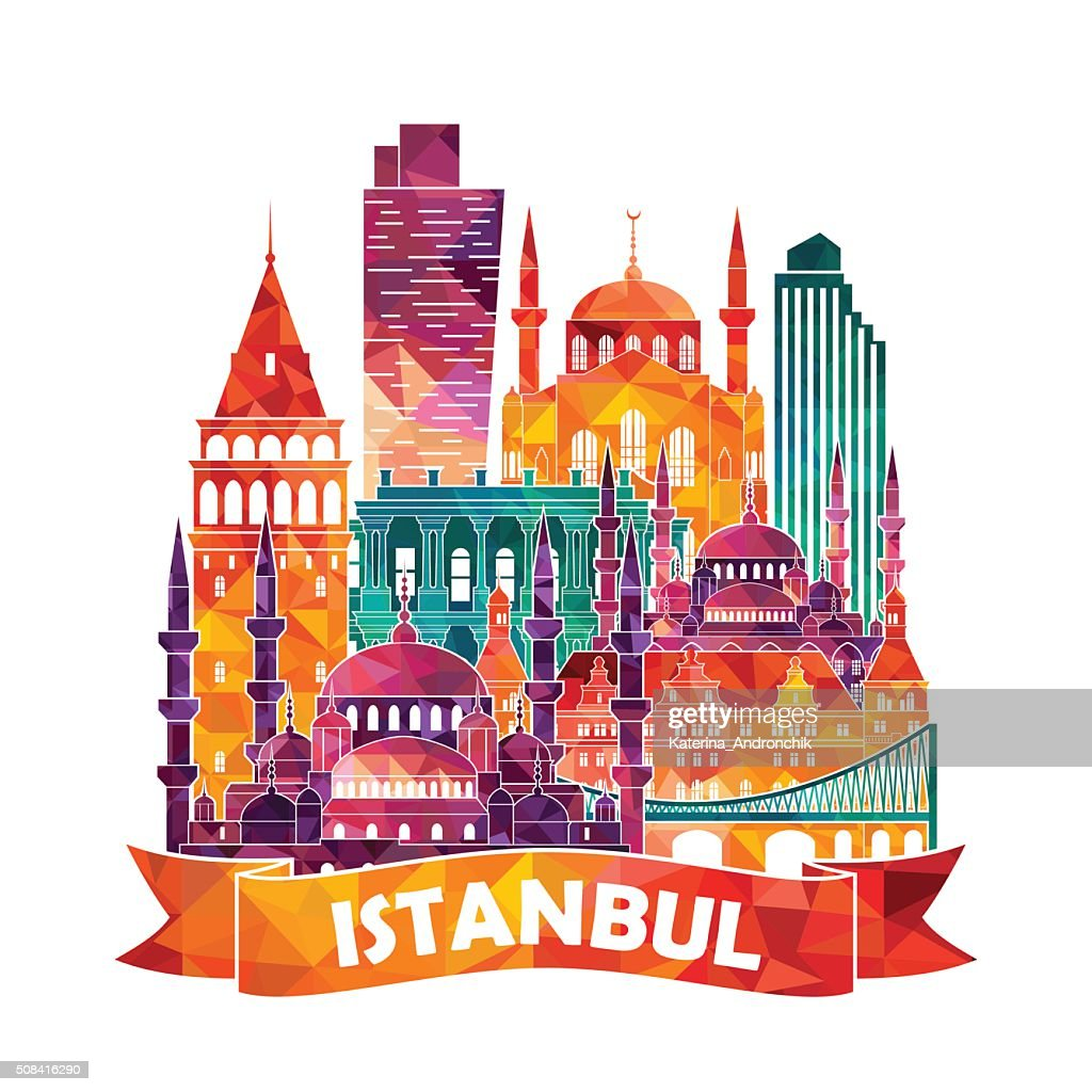 Istanbul skyline. Vector illustration