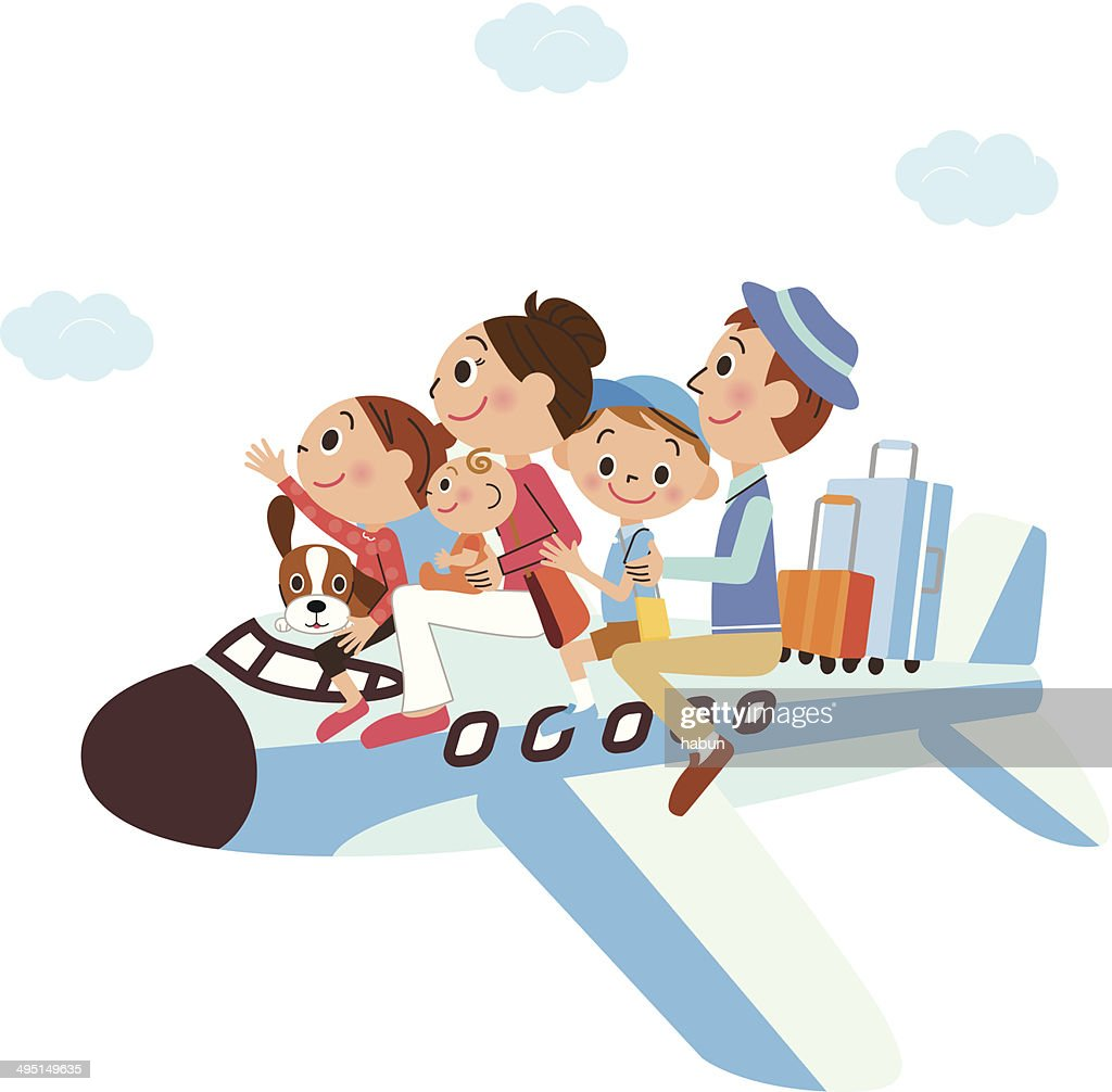 It is a family vacation on, airplane