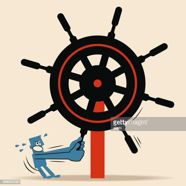 それが困難またはポリシー、プログラム、およびプロジェクト (官僚制概念) を実施することは不可能です。男は保持しようとラダー舵の操作をするは難しい