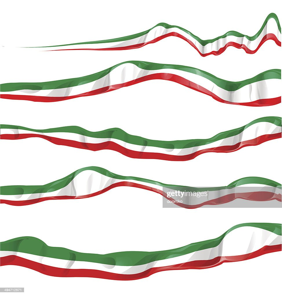 italian and mexican flag set